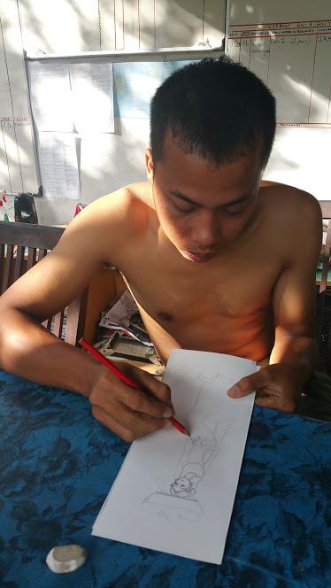 Ubud_keliki Riong à l'oeuvre